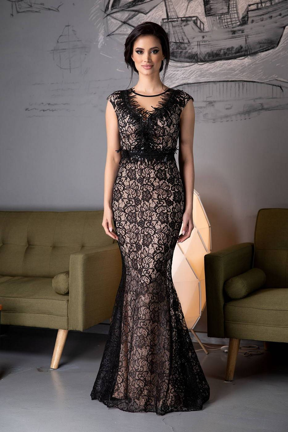 Crush Black Dress