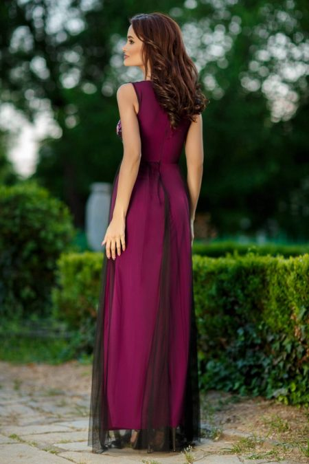 Scarlet Βιολετί Φόρεμα 2337