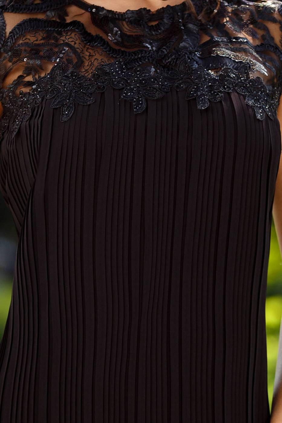 Midi Μαύρο Φόρεμα Nina 2376
