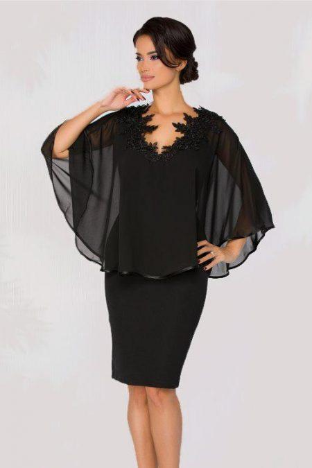 Μαύρο Φόρεμα Με Δαντέλα Calliope 1179