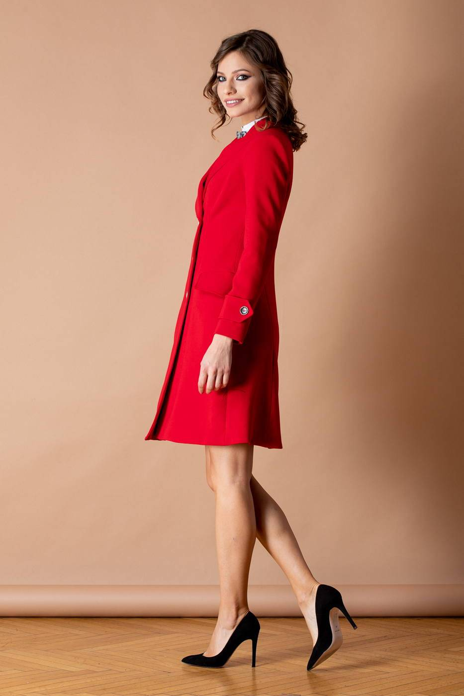 Sandy Κόκκινο Παλτό 1195