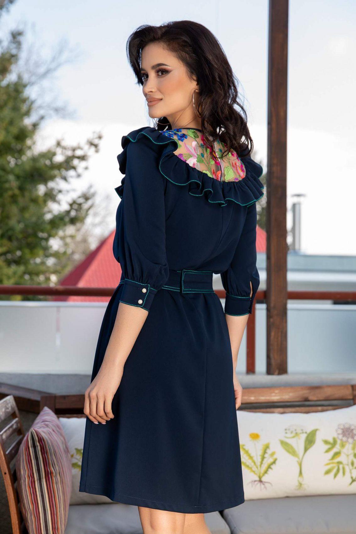 La Donna Louanna Navy Μπλε Φορεμα 3122