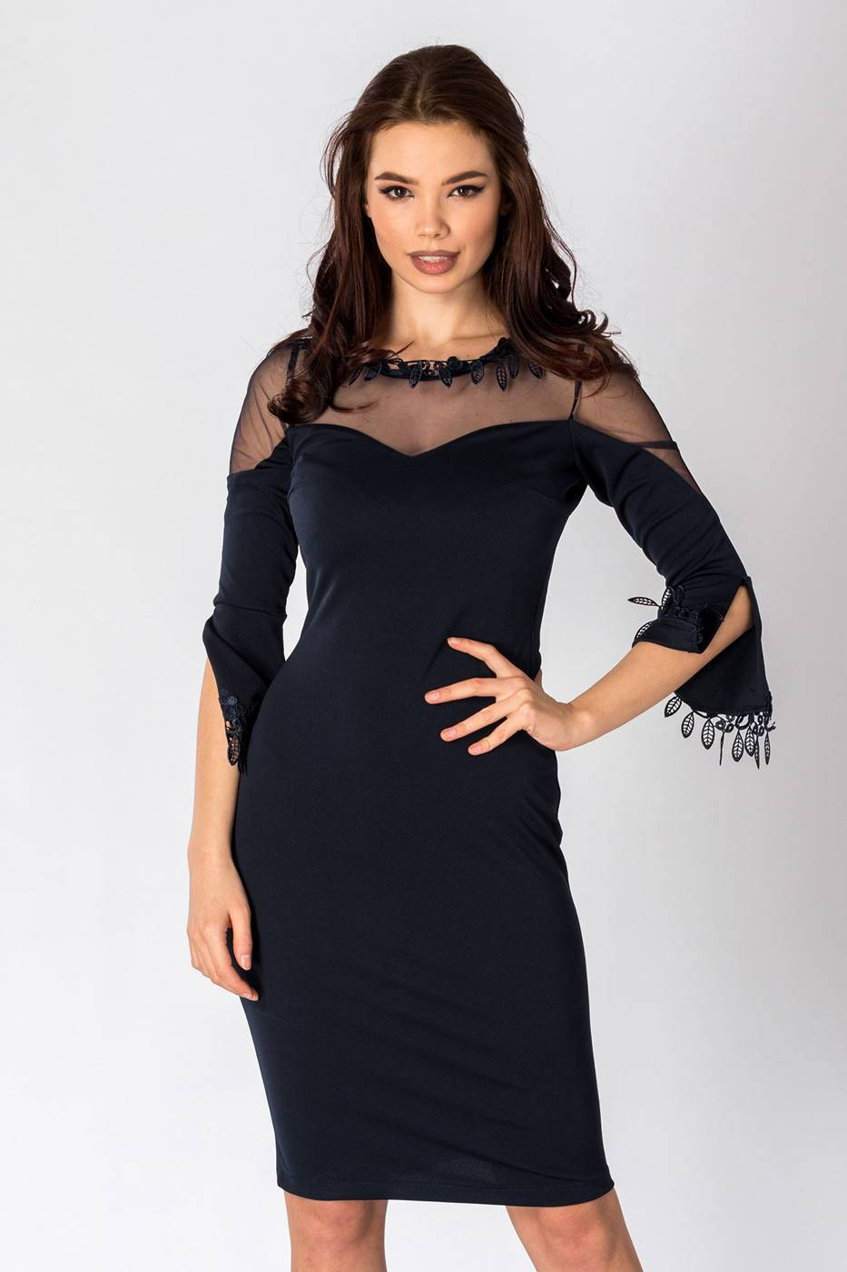 Salma Navy Blue Dress