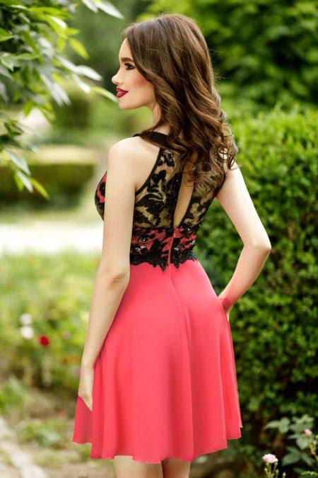 Fiesta Κοραλί Φόρεμα 4376