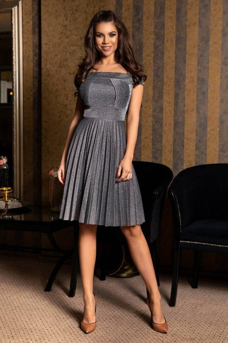 Elza Silver Dress