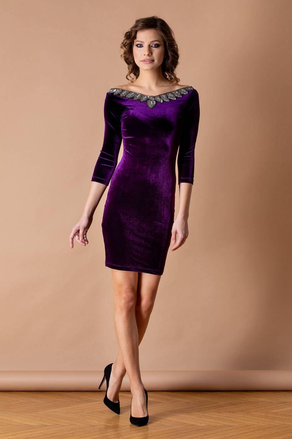 Enigma Βιολετί Φόρεμα 5958