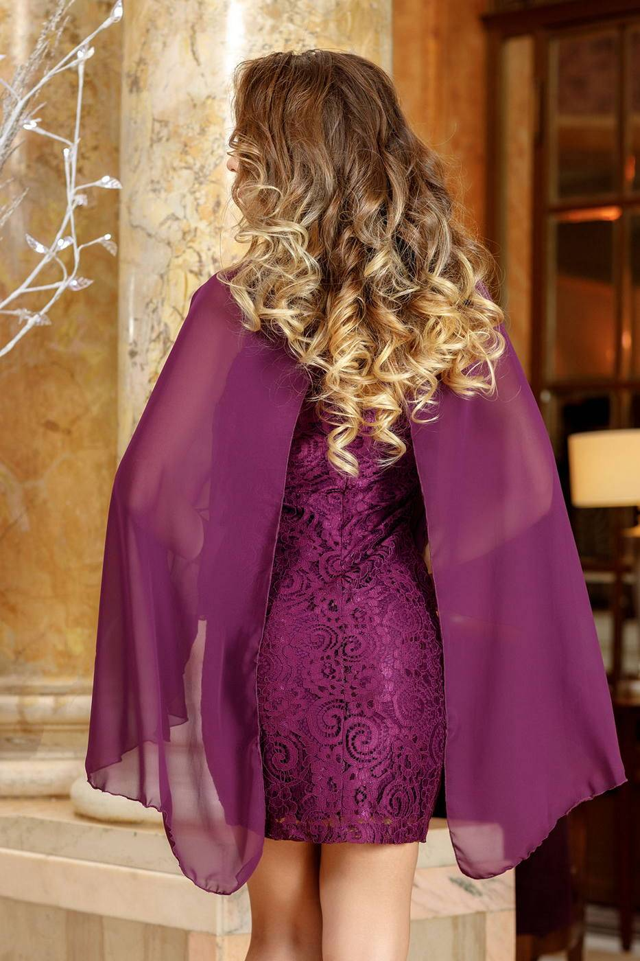 Michelle Βιολετί Φόρεμα 1383