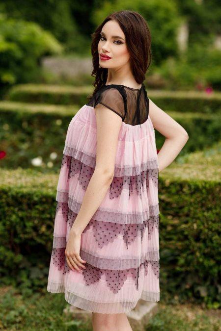 Timeea Ροζ Φορεμα 4538