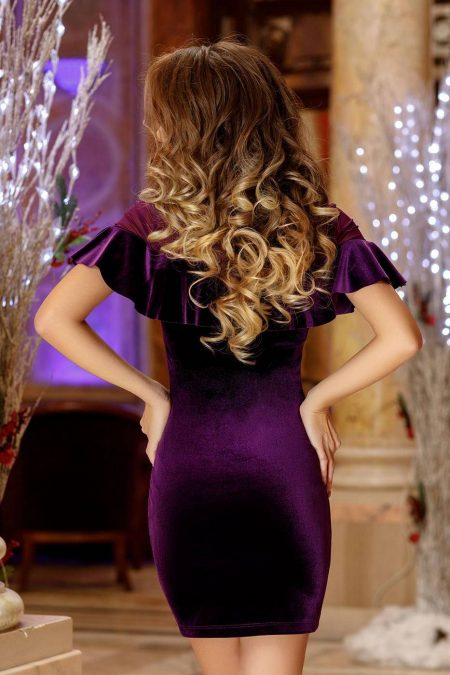 Karim Βιολετί Φόρεμα 2221