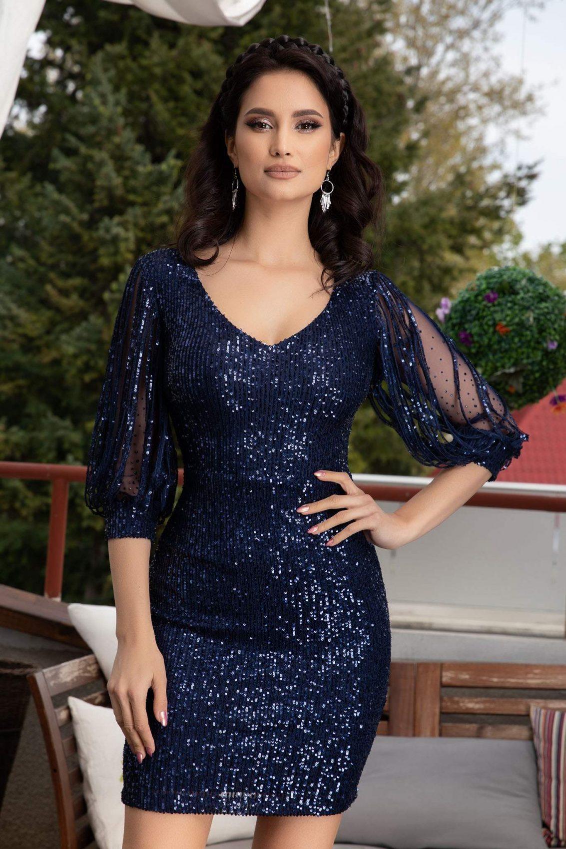 Katriss Μπλε Φόρεμα 1103