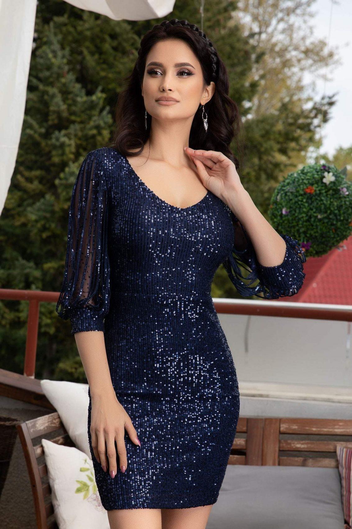 Katriss Navy Dress