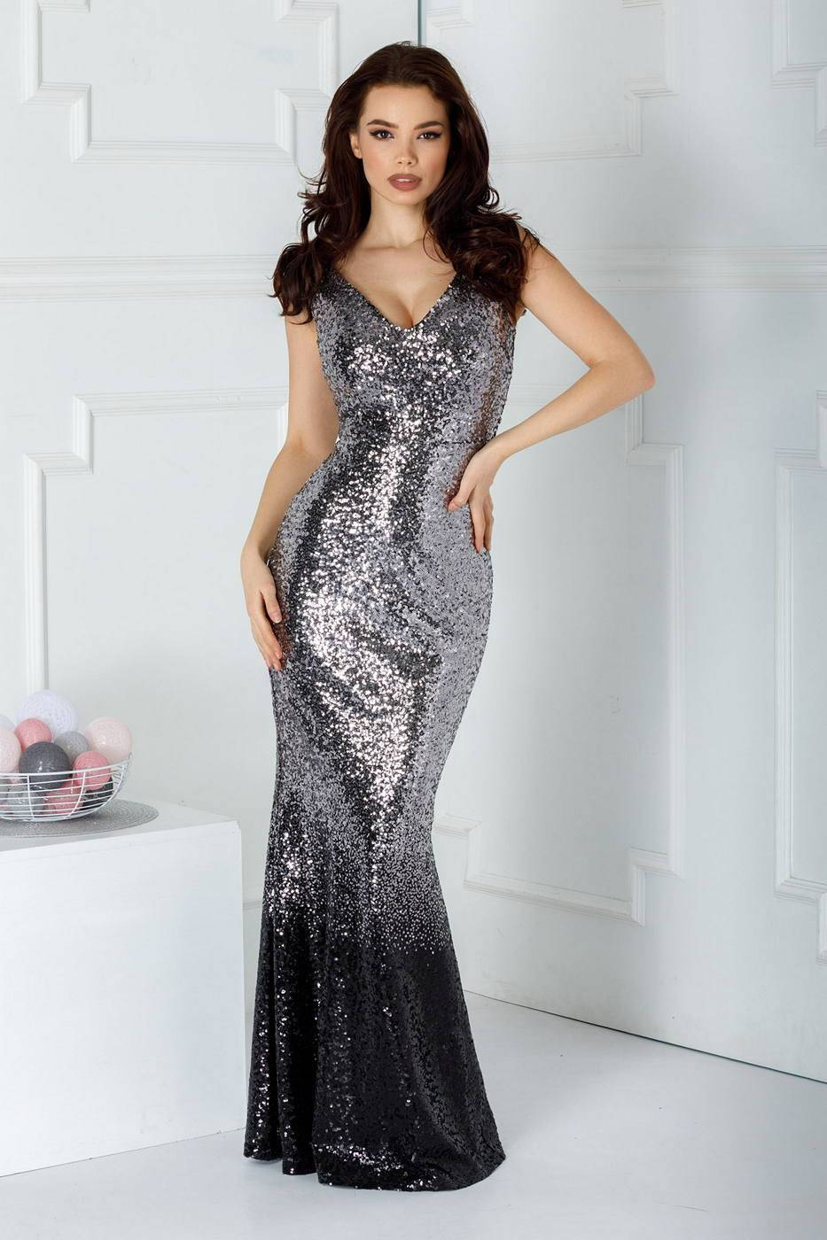 Lorensa Silver Dress