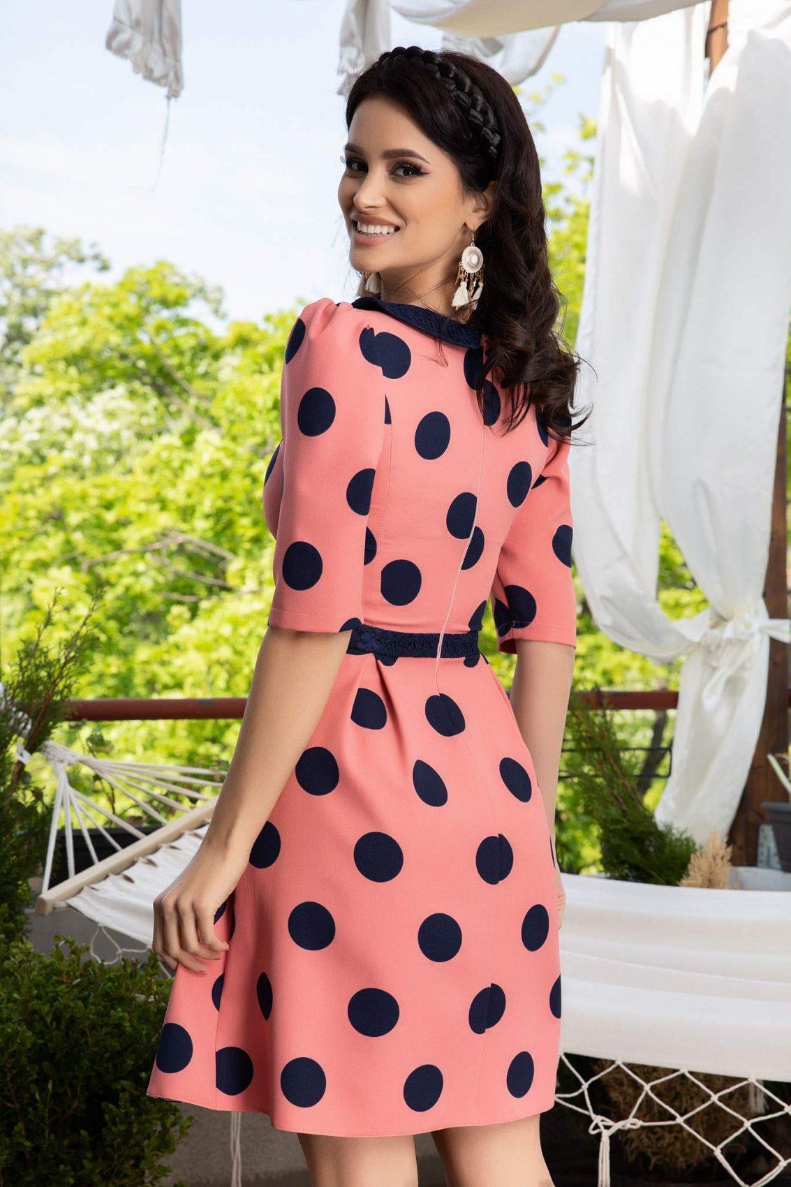 La Donna Nadira Ροζ  Φόρεμα 1135