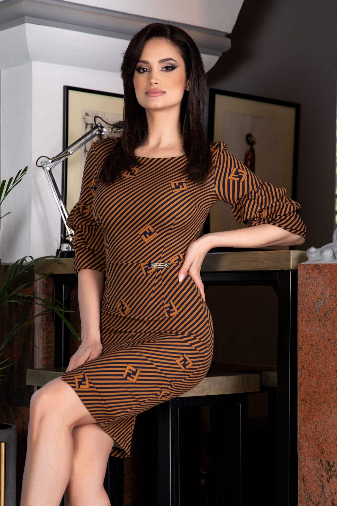 La Donna Natty Caramel Φόρεμα 1166