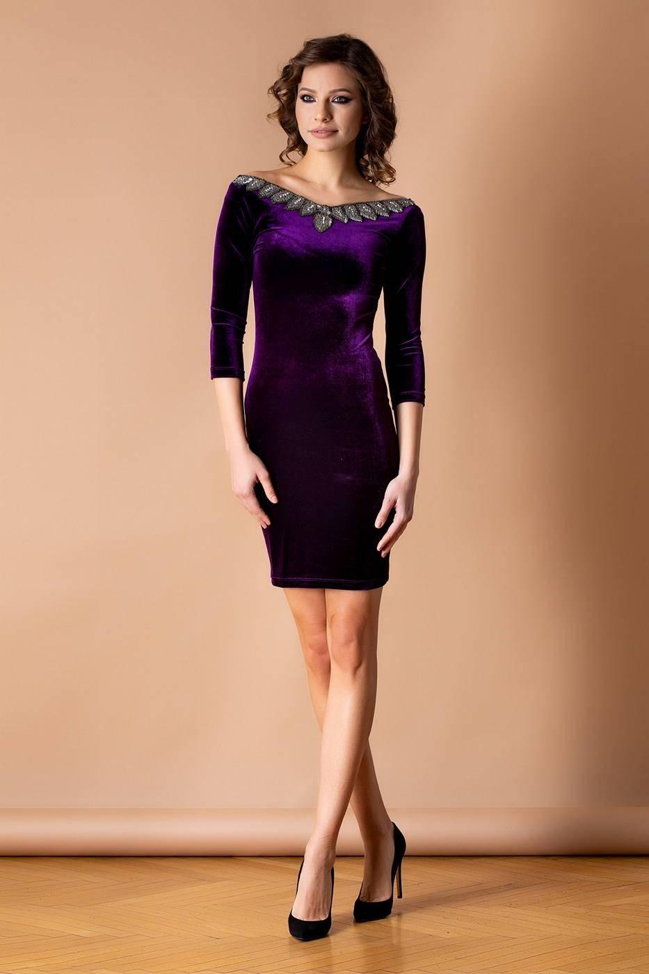 Enigma Violet Dress