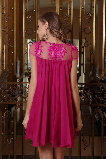 Veronique Φούξια Φόρεμα 1391