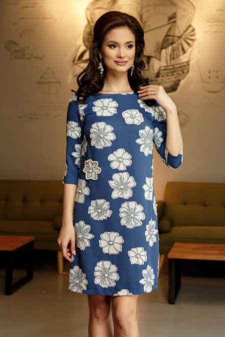 Nigella Navy Blue Dress