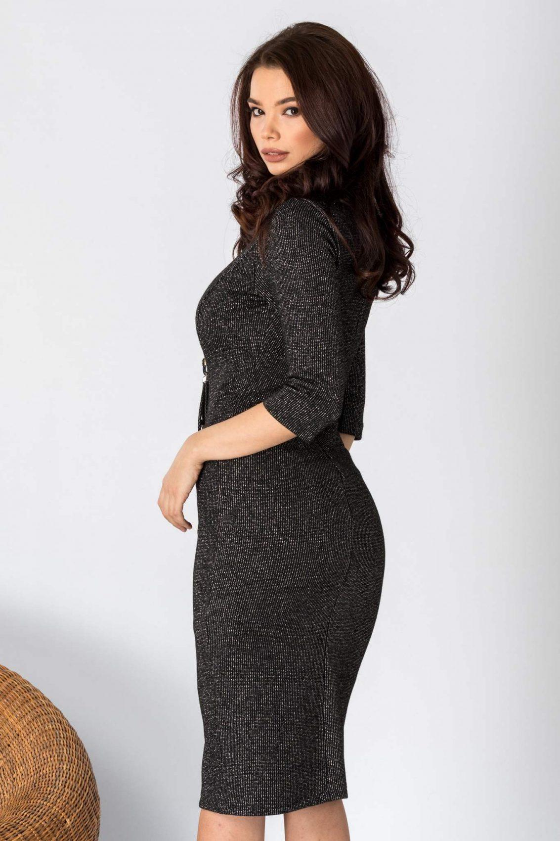 Sindy Midi Μαύρο Φόρεμα 2189