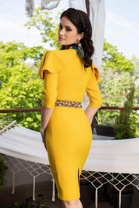 La Donna Kerry Κίτρινο Φόρεμα 1126