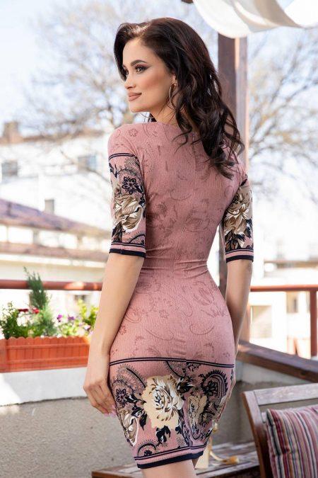 Sidney Ροζ Φόρεμα 1729