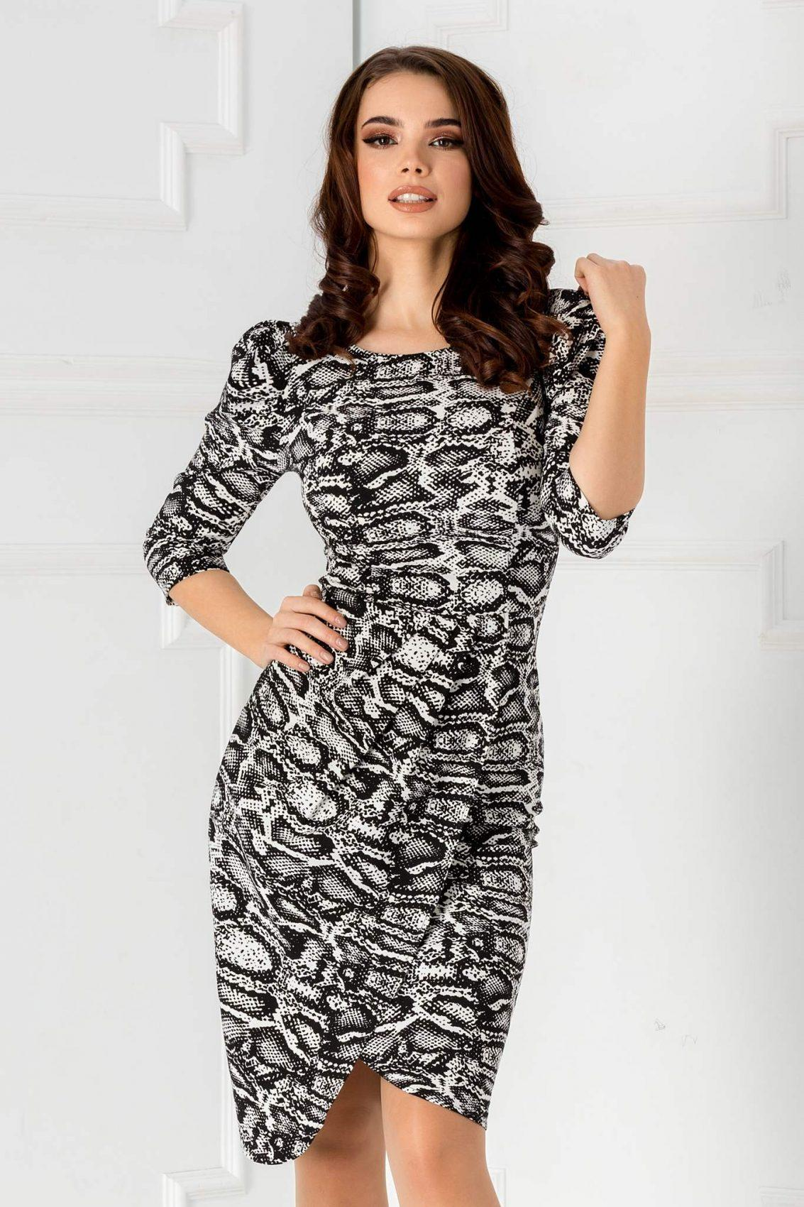 Priscilla Animal Print Dress
