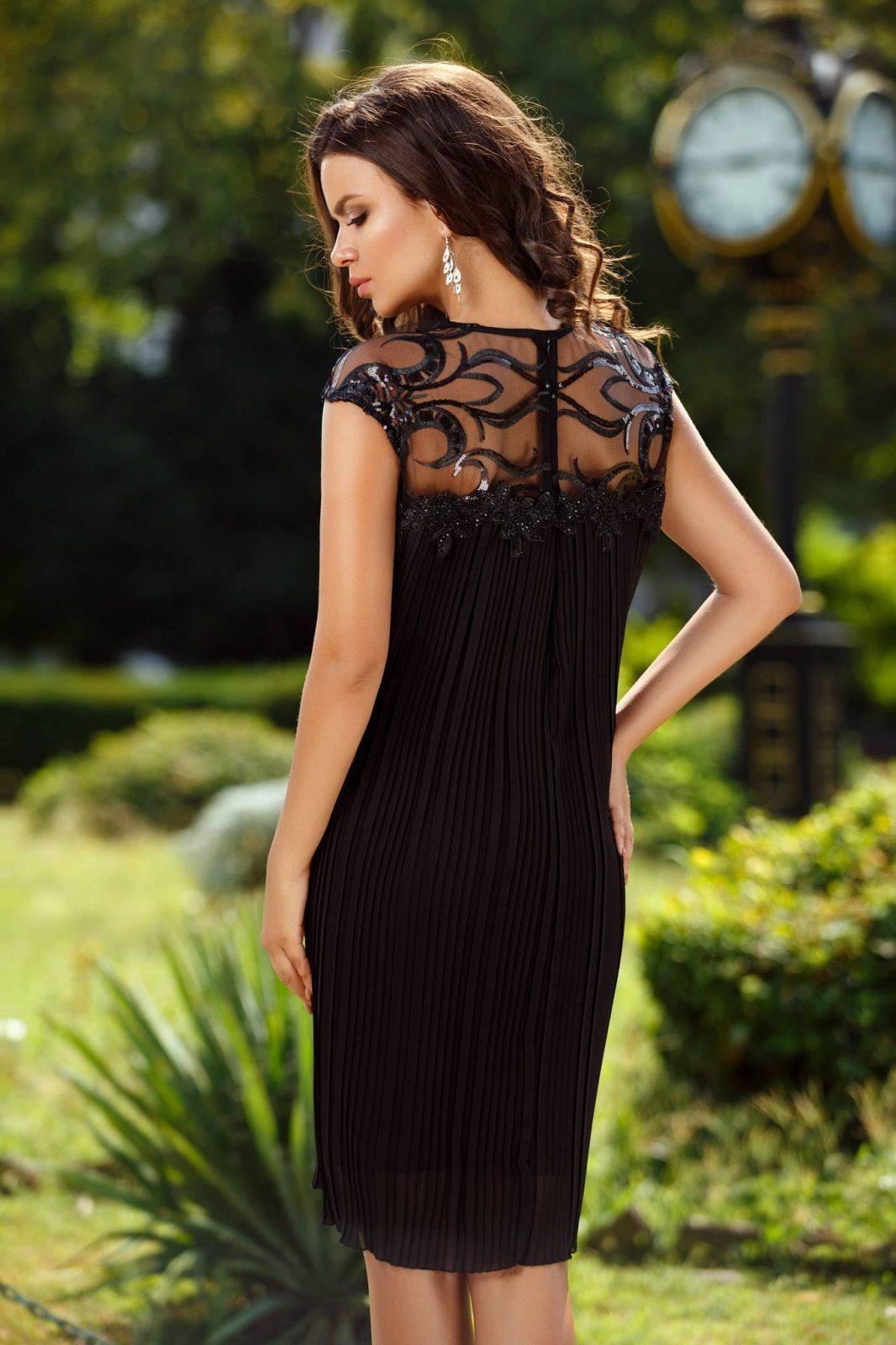 Nina Midi Μαύρο Φόρεμα 2376