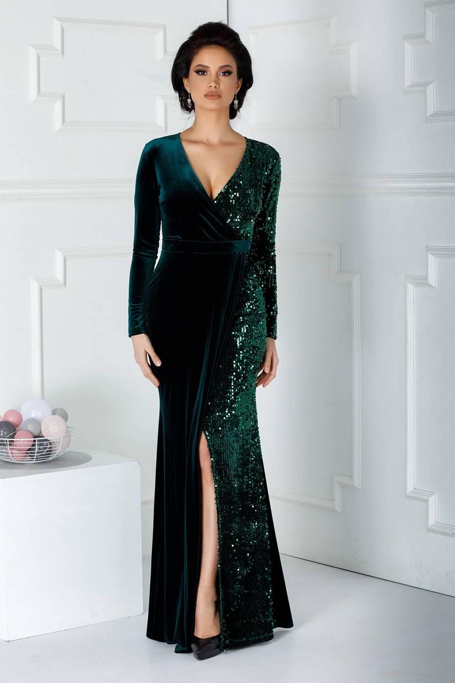 Swan Green Dress