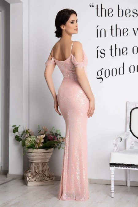 Cherish Ροζ Φόρεμα 2107