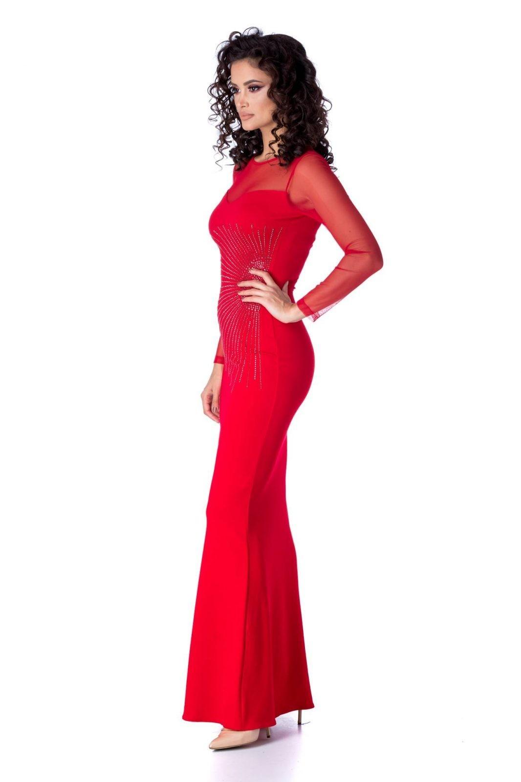 Mirenna Κόκκινο Φόρεμα 1201