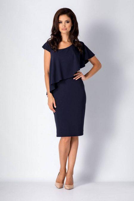 Ylenia Navy Blue Dress