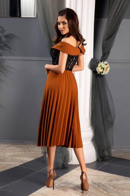 Xandra Caramel Φόρεμα 1334