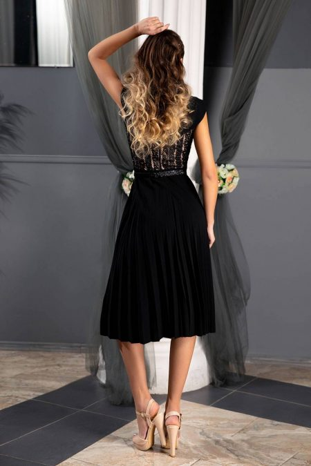 Xandra Μαύρο Φόρεμα 1336