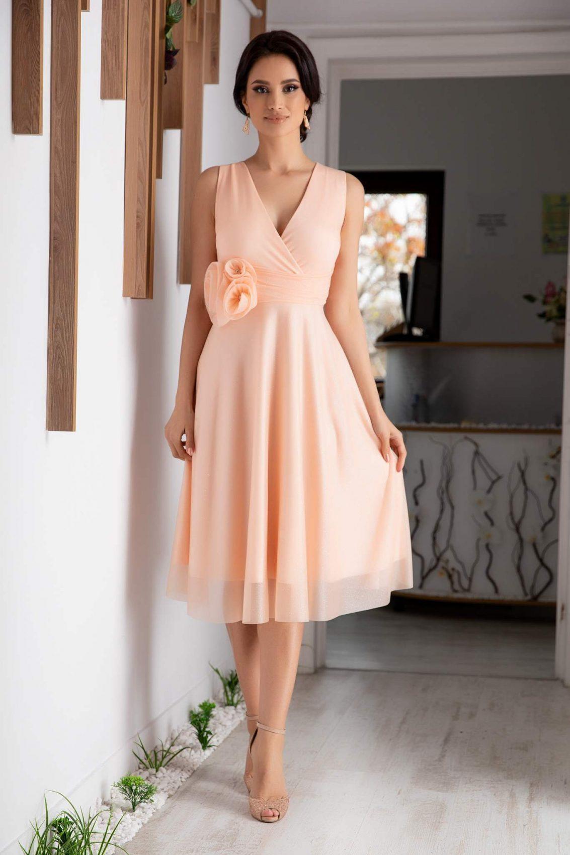 Rosalinda Peach Dress