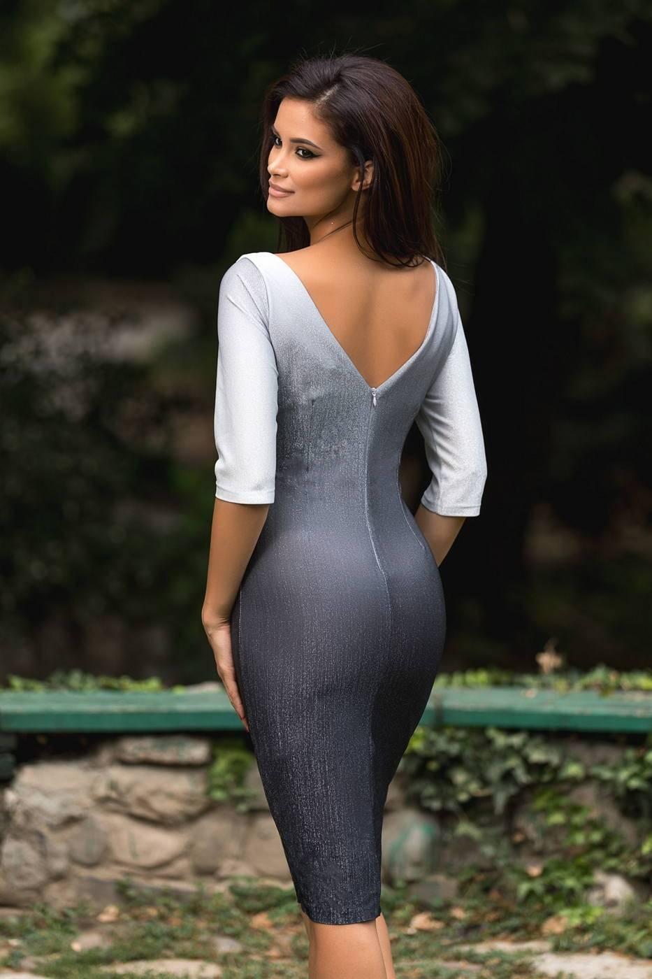 Claudine Γκρι Φόρεμα 1279