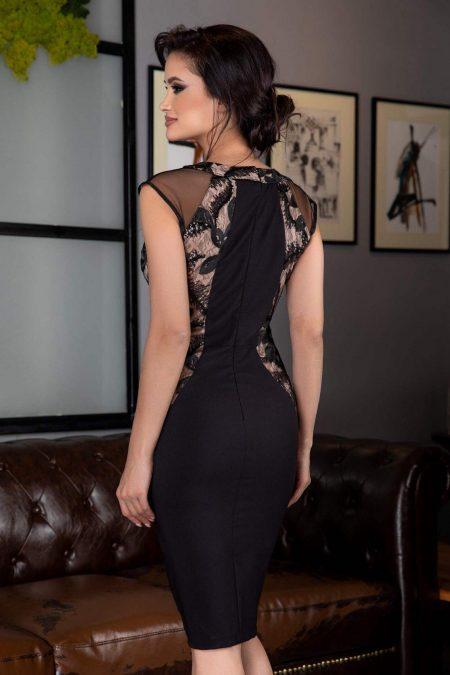Μαύρο Midi Φόρεμα Indicia 3106