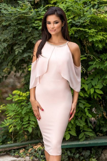 Rowena Peach Dress