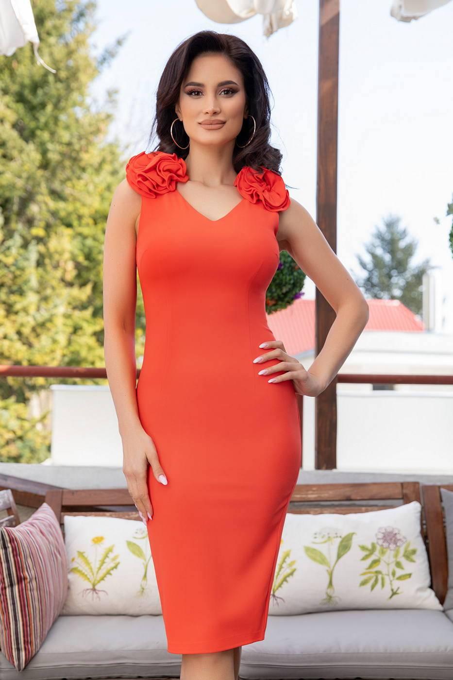 Xelena Coral Dress