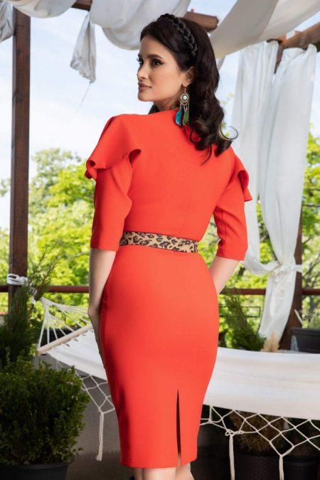La Donna Kerry Κοραλί Φόρεμα 1127