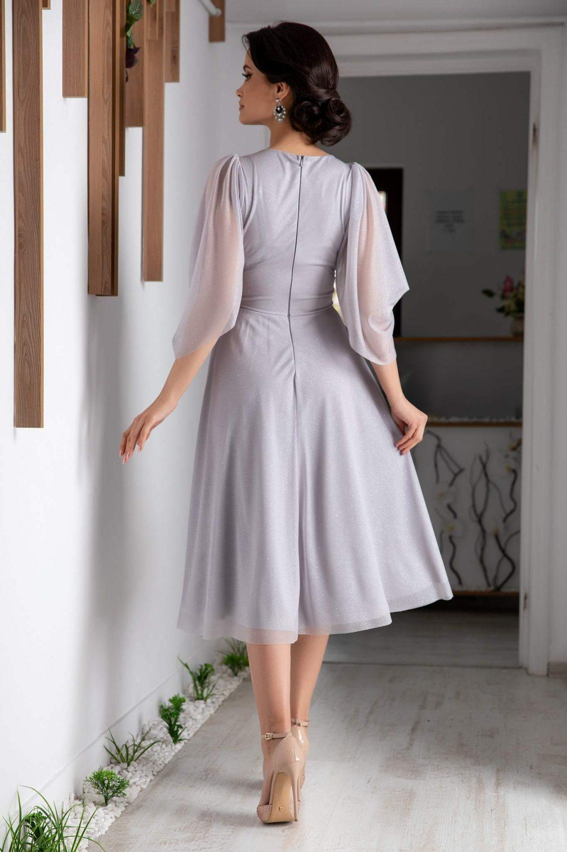 Rosario Midi Γκρι Φόρεμα 5012