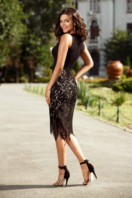 Fancy Μαύρο Φόρεμα 2378