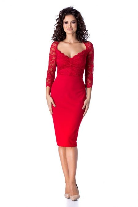 Norra Red Dress