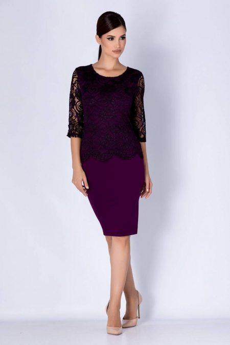 Klaire Violet Dress