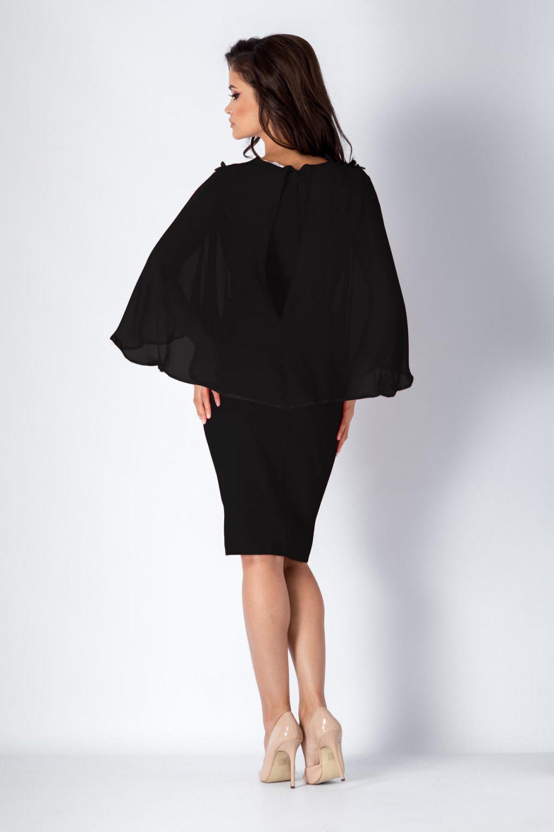 Μαύρο Φόρεμα Με Δαντέλα Calliope 1179 2