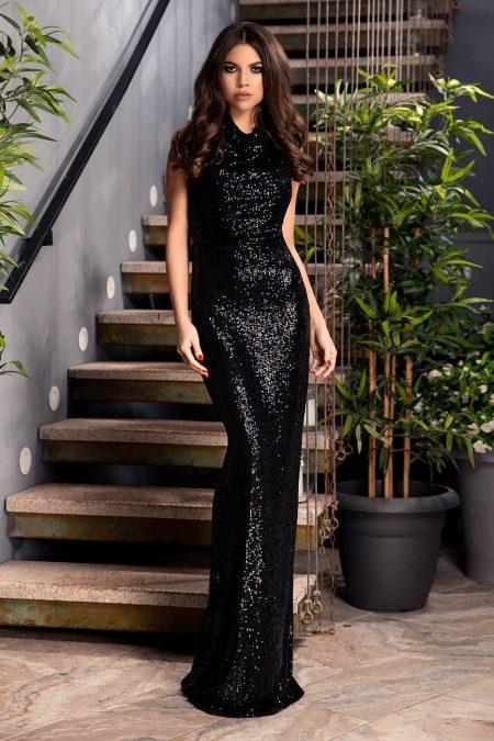 Diamond Μαύρο Φόρεμα 1844