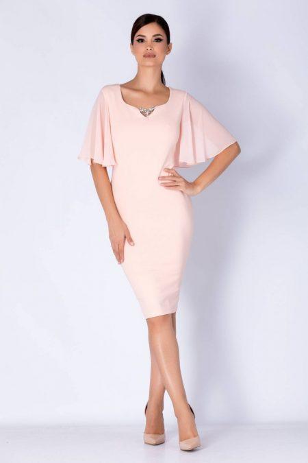 Gabrielle Peach Dress