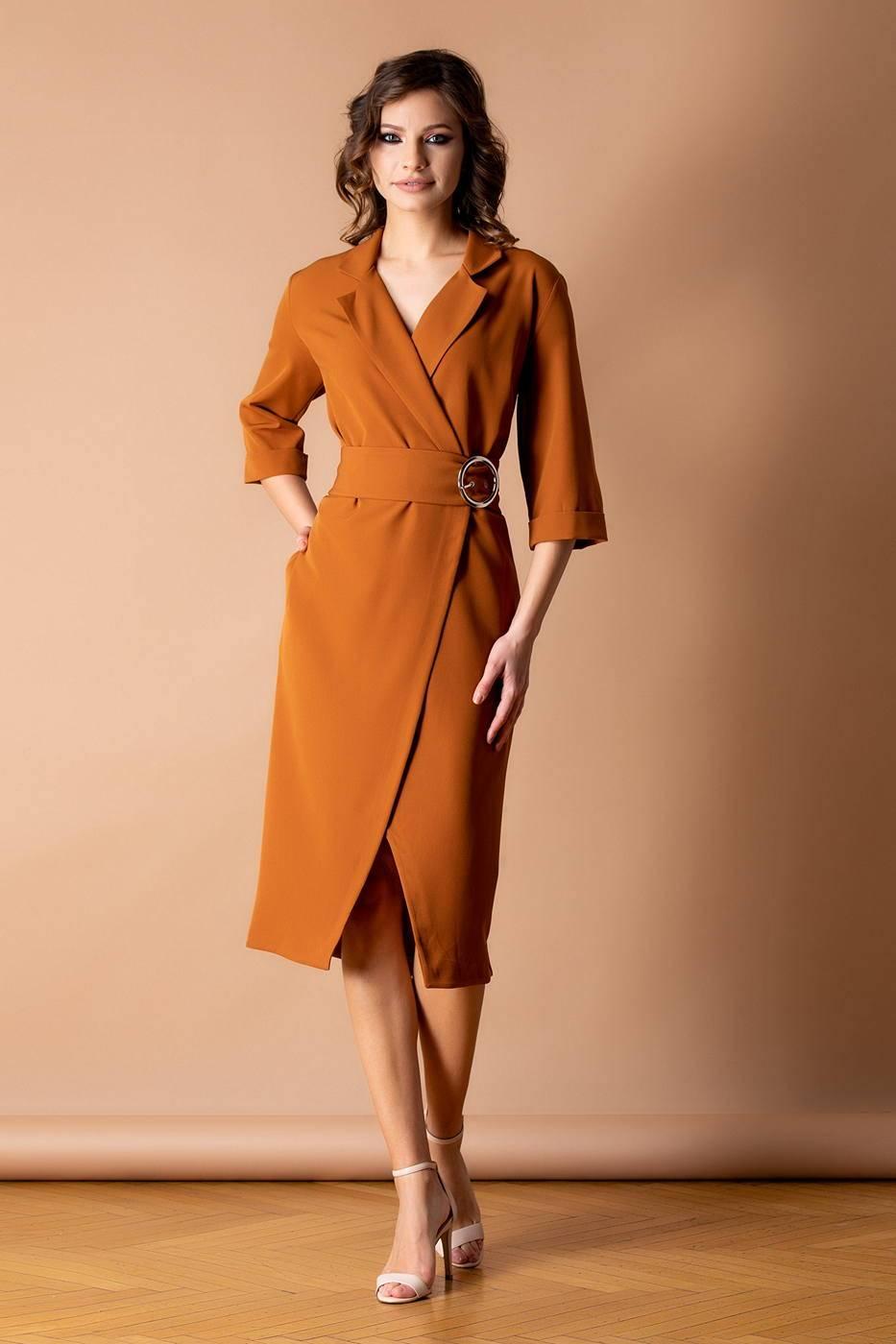 Zaira Caramel Dress