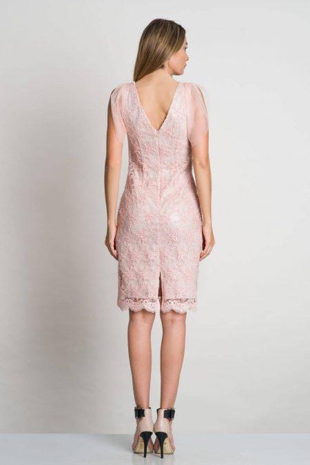 Anne Ροζ Φόρεμα 2319