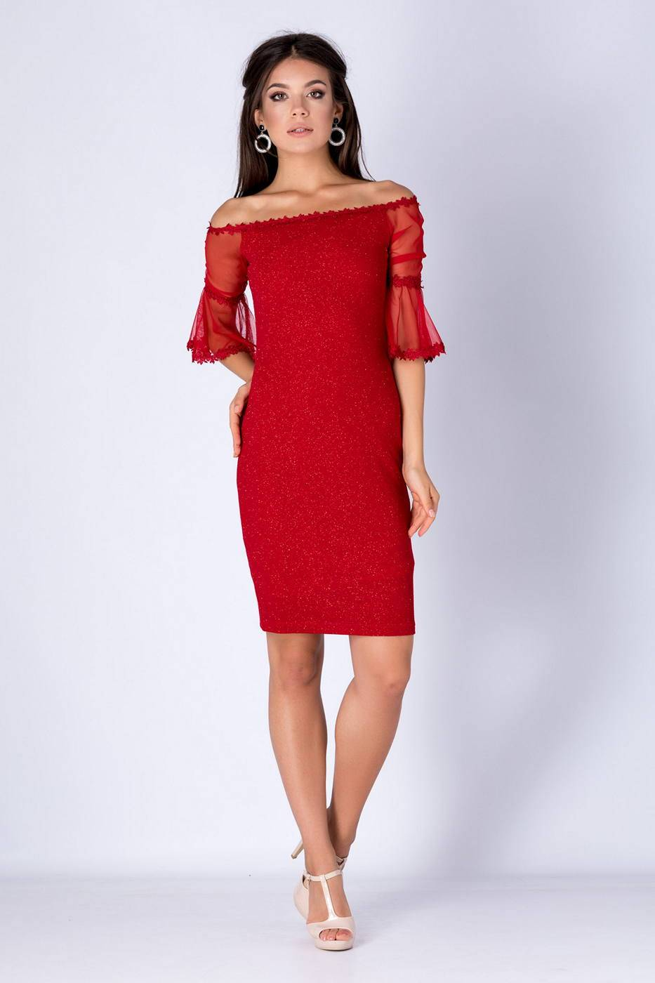Melinda Κόκκινο Φόρεμα 1325