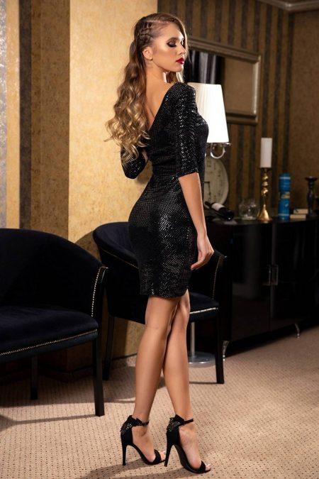 Emilly Μαύρο Φόρεμα 1836