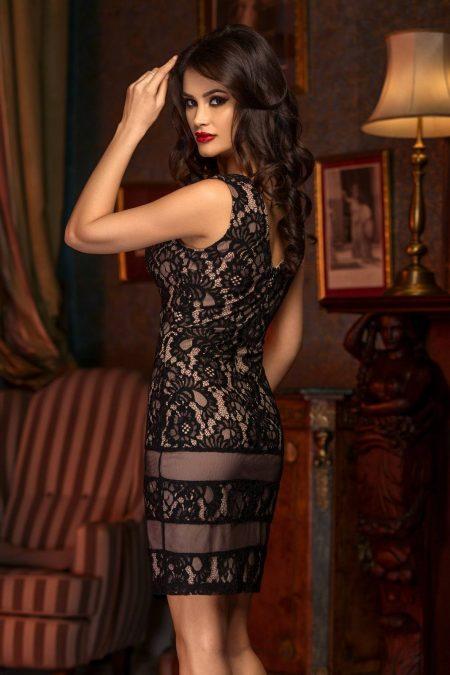 Amina Μαύρο Φόρεμα 1481